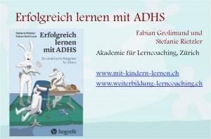 Erfolgreich Lernen mit ADHS - Präsentation von Grolimund + Ritzler