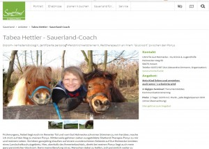 Tabea Hettler - tierunterstütztes Training im Sauerland
