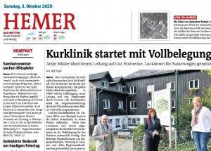Neue Leitung Gut Holmecke
